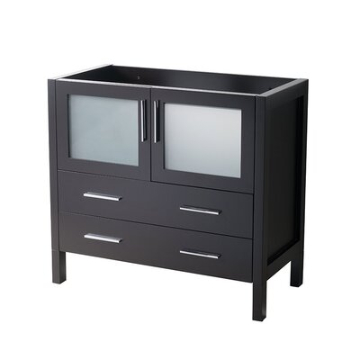 Torino 36 Single Bathroom Vanity Base Base Finish: Espresso