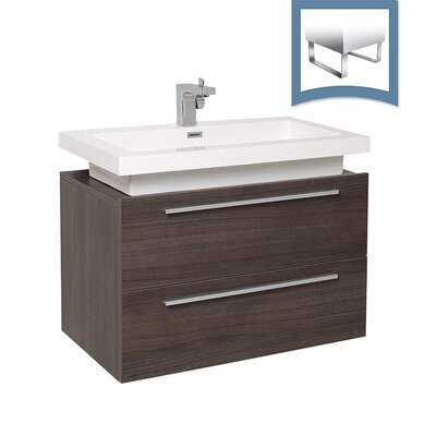 Medio 31 Single Bathroom Vanity Set Base Finish: Gray Oak
