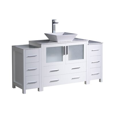Torino 60 Single Bathroom Vanity Set Base Finish: White