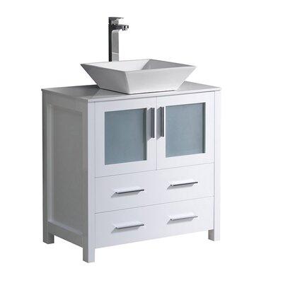 Torino 30 Single Bathroom Vanity Set Base Finish: White