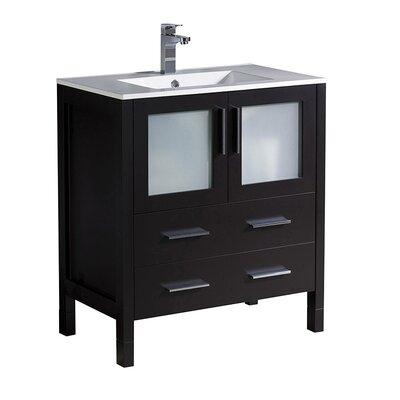 Torino 30 Single Bathroom Vanity Set Base Finish: Espresso