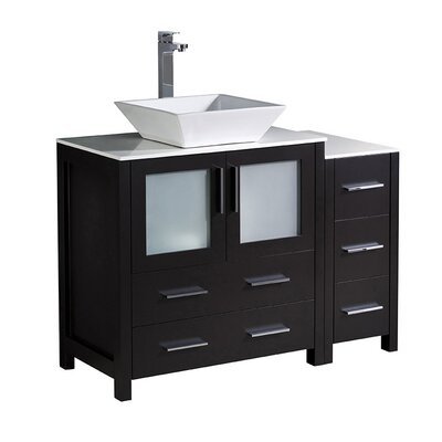 Torino 42 Single Bathroom Vanity Set Base Finish: Espresso