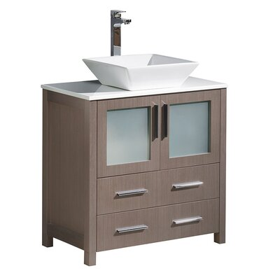 Torino 30 Single Bathroom Vanity Set Base Finish: Gray Oak