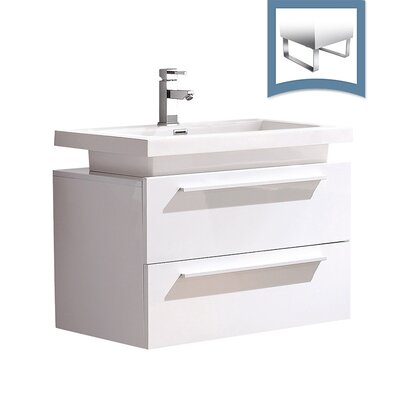 Medio 31 Single Bathroom Vanity Set Base Finish: White