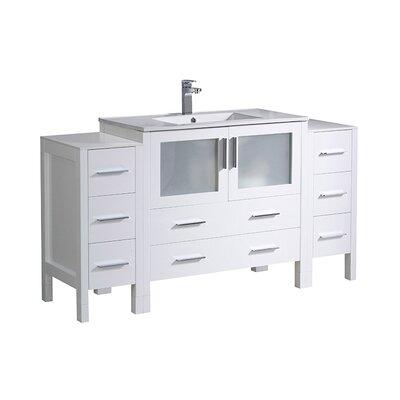 Torino 60 Single Bathroom Vanity Set Base Finish: White