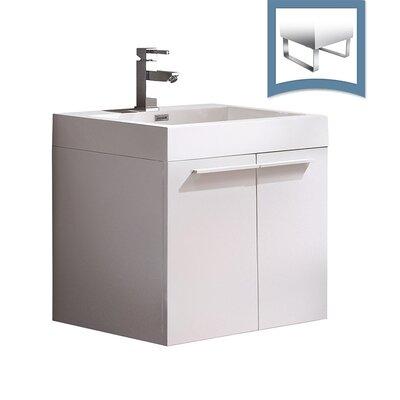 Alto 23 Single Bathroom Vanity Set Base Finish: White