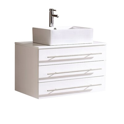 Modello 32 Single Bathroom Vanity Set Base Finish: White