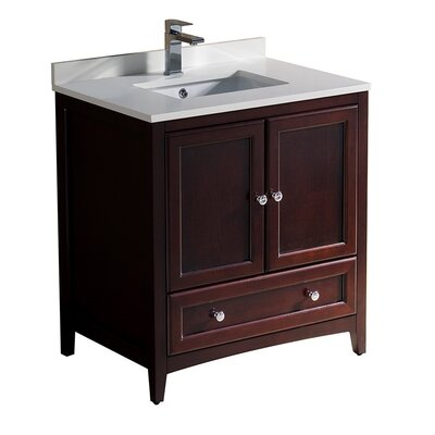 Oxford 30 Single Bathroom Vanity Set Base Finish: Mahogany
