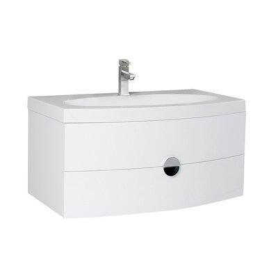 Energia 36 Single Bathroom Vanity Set Base Finish: White