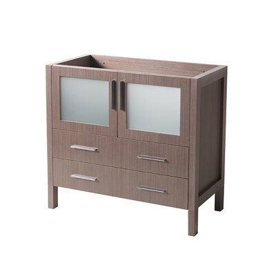 Torino 36 Single Bathroom Vanity Base Base Finish: Gray Oak