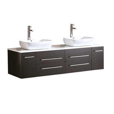 Bellezza 59 Double Bathroom Vanity Set Base Finish: Espresso