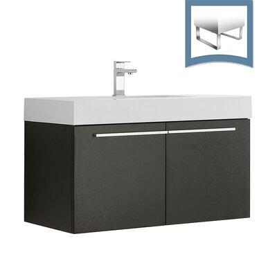 Vista 35 Single Bathroom Vanity Set Base Finish: Black