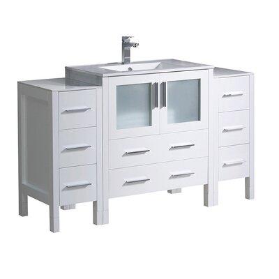 Torino 54 Single Bathroom Vanity Set Base Finish: White