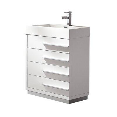 Livello 23 Single Bathroom Vanity Set Base Finish: White