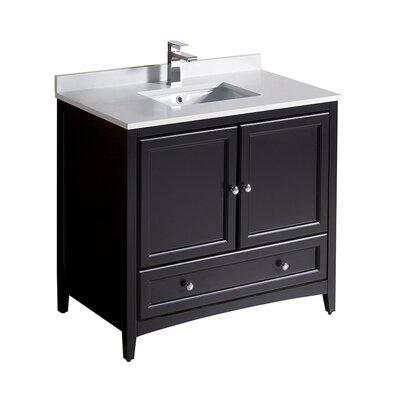 Oxford 36 Single Bathroom Vanity Set Base Finish: Espresso