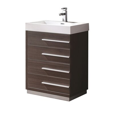 Livello 23 Single Bathroom Vanity Set Base Finish: Gray Oak