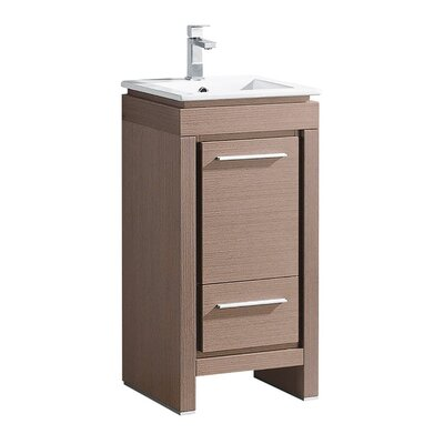 Allier 16 Single Bathroom Vanity Set Base Finish: Gray Oak