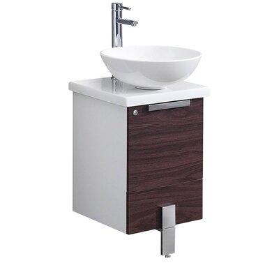 Adour 16 Single Bathroom Vanity Set Base Finish: Dark Walnut