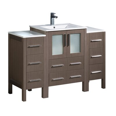 Torino 48 Single Bathroom Vanity Set Base Finish: Gray Oak