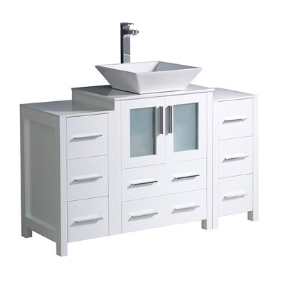 Torino 48 Single Bathroom Vanity Set Base Finish: White