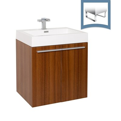 Alto 23 Single Bathroom Vanity Set Base Finish: Teak
