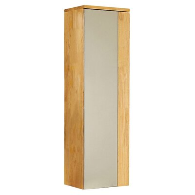 Caro Wood Mirrored 12 x 40 Surface Mount Medicine Cabinet Finish: Natural Wood