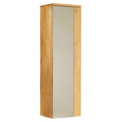 Caro Wood Mirrored 12 x 40 Surface Mount Medicine Cabinet Finish: Natural Wood
