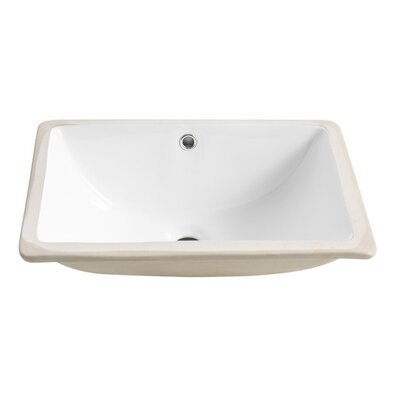 Allier Ceramic Rectangular Undermount Bathroom Sink with Overflow
