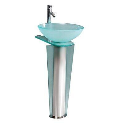 Vitale Glass 35 Pedestal Bathroom Sink