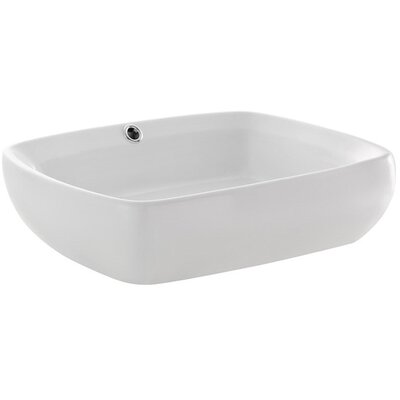 Bellezza Rectangular Vessel Bathroom Sink with Overflow