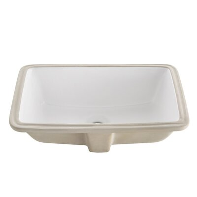 Bellezza Ceramic Rectangular Undermount Bathroom Sink
