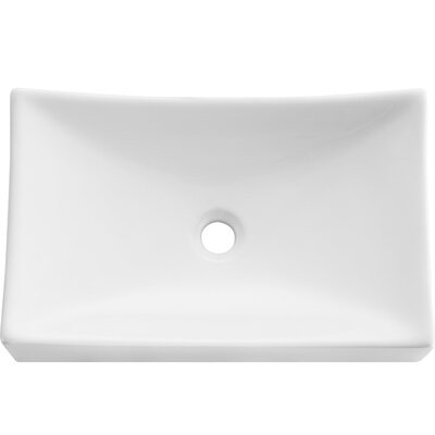 Distante Rectangular Vessel Bathroom Sink