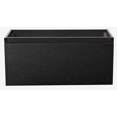 Mezzo 39 Single Bathroom Vanity Base Base Finish: Black