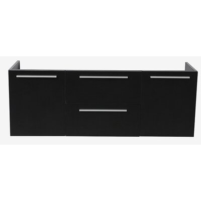 Opulento 54 Double Bathroom Vanity Base Base Finish: Black