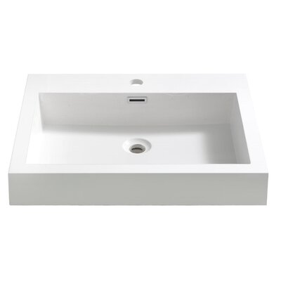 Nano Rectangular Drop-In Bathroom Sink