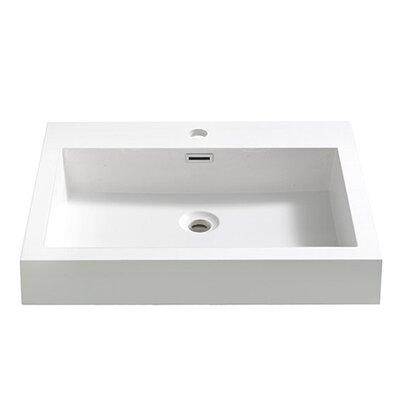 Alto Rectangular Drop-In Bathroom Sink with Overflow