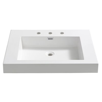 Potenza Rectangular Drop-In Bathroom Sink with Overflow