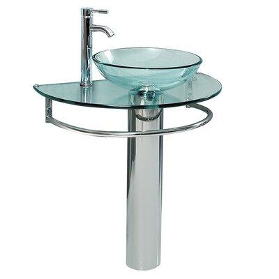 Attrazione Glass Glass 35 Pedestal Bathroom Sink