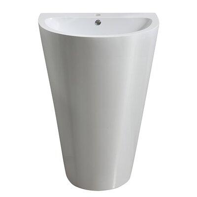 Parma 33 Pedestal Bathroom Sink with Overflow