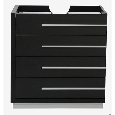 Livello 30 Single Bathroom Vanity Base Base Finish: Black