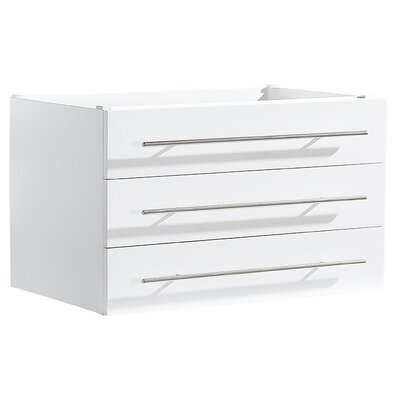 Modella 23 Single Bathroom Vanity Base Base Finish: White