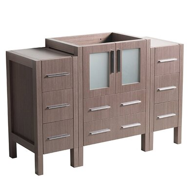 Torino 48 Single Bathroom Vanity Base Base Finish: Gray Oak