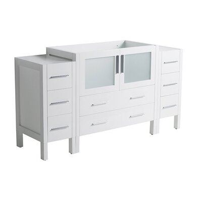 Torino 54 Single Bathroom Vanity Base Base Finish: White