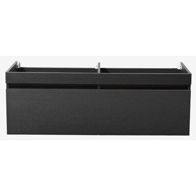 Largo 57 Double Bathroom Vanity Base Base Finish: Black