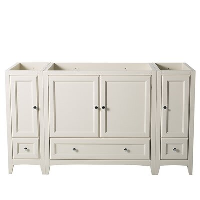 Oxford 59 Single Bathroom Vanity Base Base Finish: Antique White