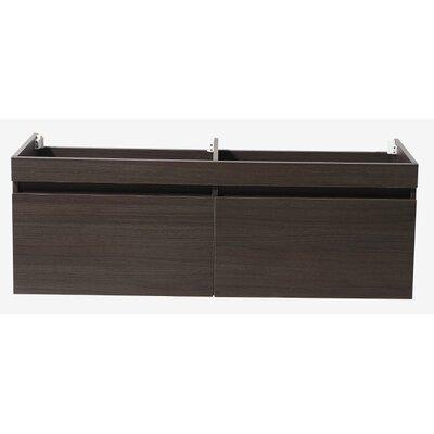 Largo 57 Double Bathroom Vanity Base Base Finish: Gray Oak