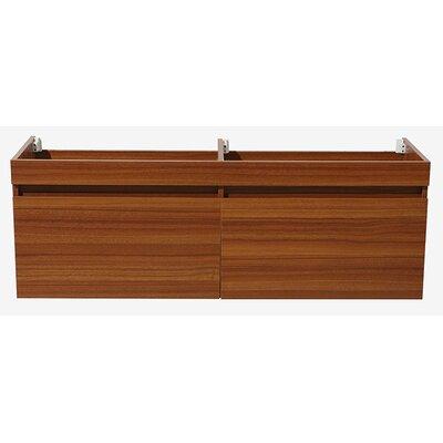 Largo 57 Double Bathroom Vanity Base Base Finish: Teak