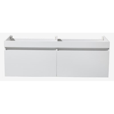 Largo 57 Double Bathroom Vanity Base Base Finish: White