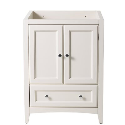 Oxford 24 Single Bathroom Vanity Base Base Finish: Antique White