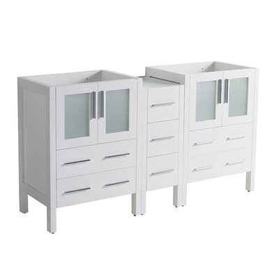 Torino 60 Double Bathroom Vanity Base Base Finish: White